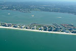 West Coast of Florida.  Sand Key Gulf Front condominiums